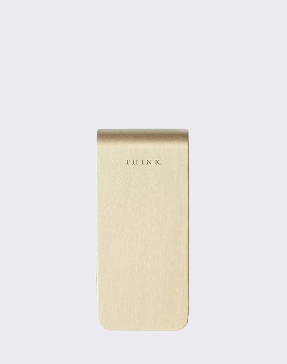 Men's Society Money Clip - Think