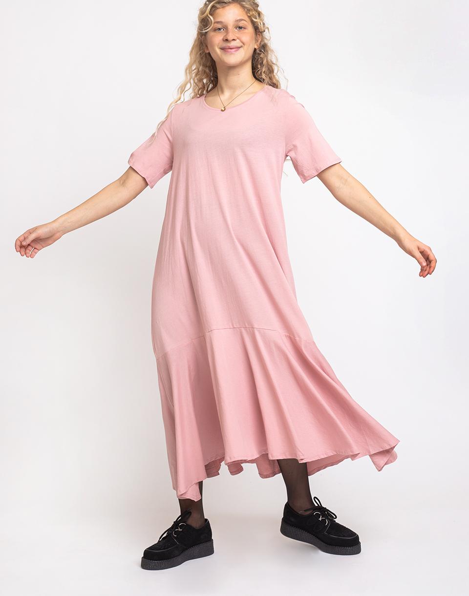 Kowtow Flare Hem Dress Chalky Pink XS