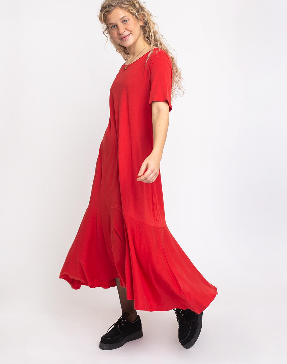 Kowtow Flare Hem Dress Poppy XS
