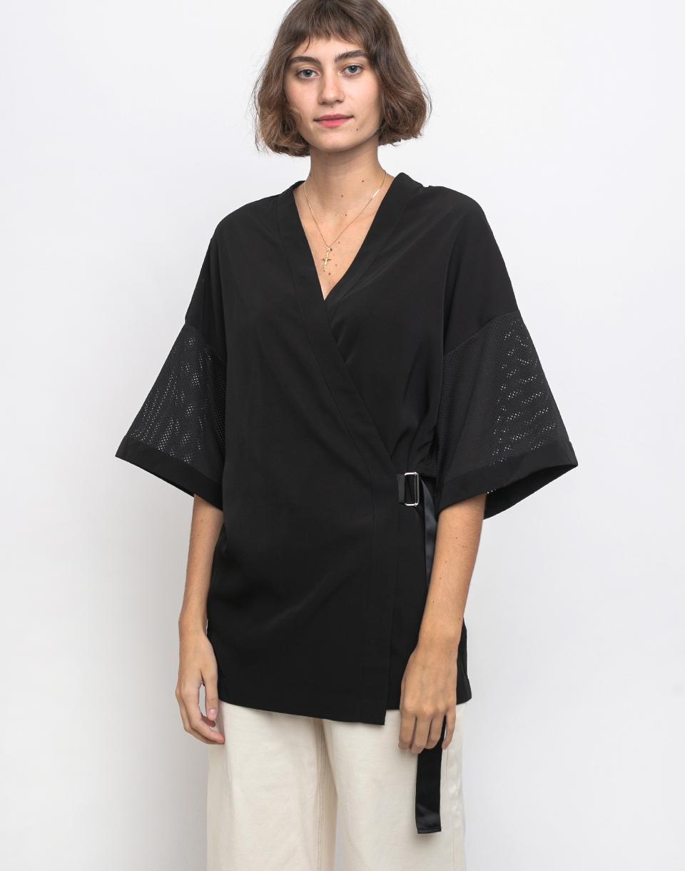 Dr. Denim Hazel Kimono Black XS