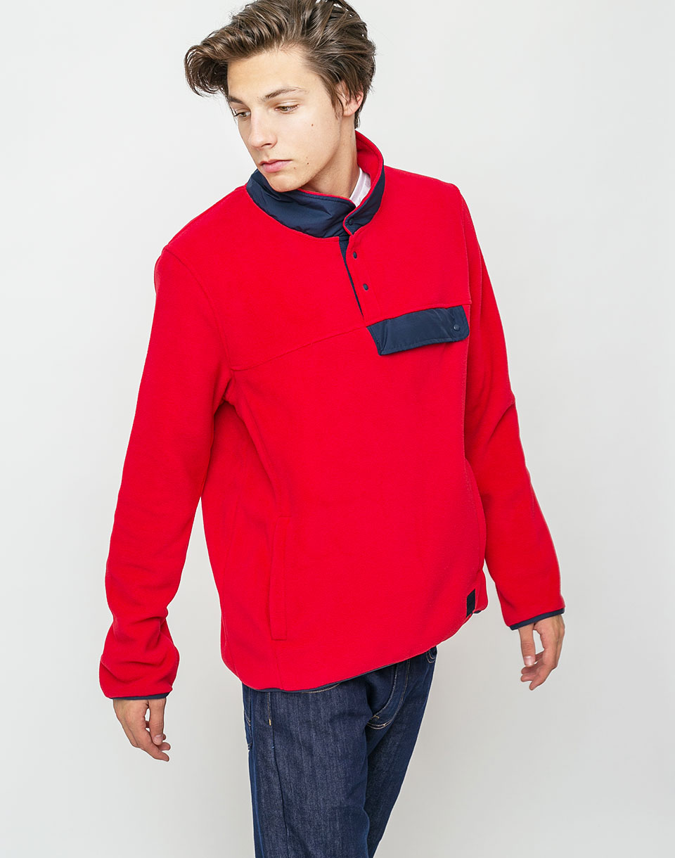Herschel Supply Fleece Pull Over Red/Peacoat M