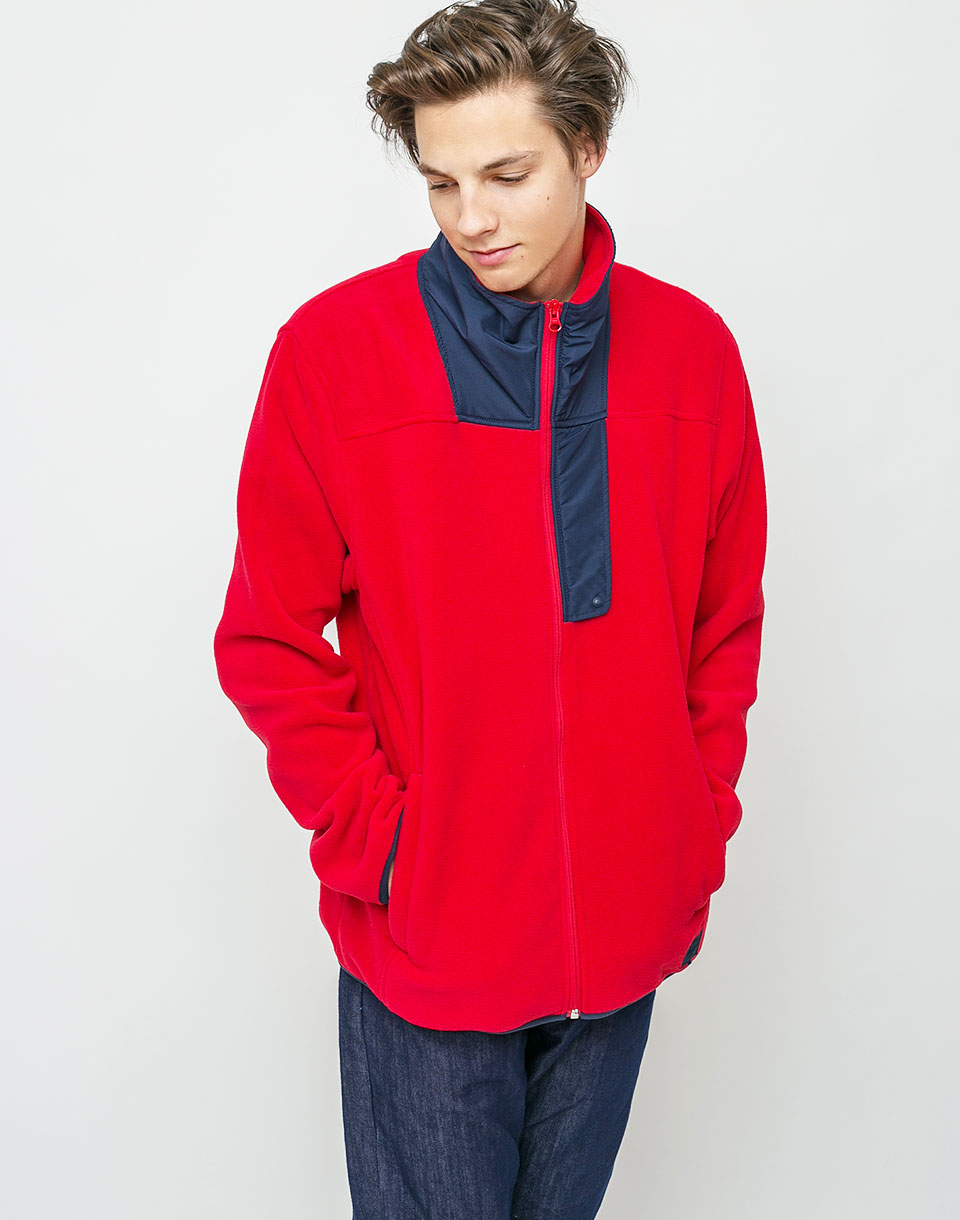Herschel Supply Fleece Zip Up Red/Peacoat M