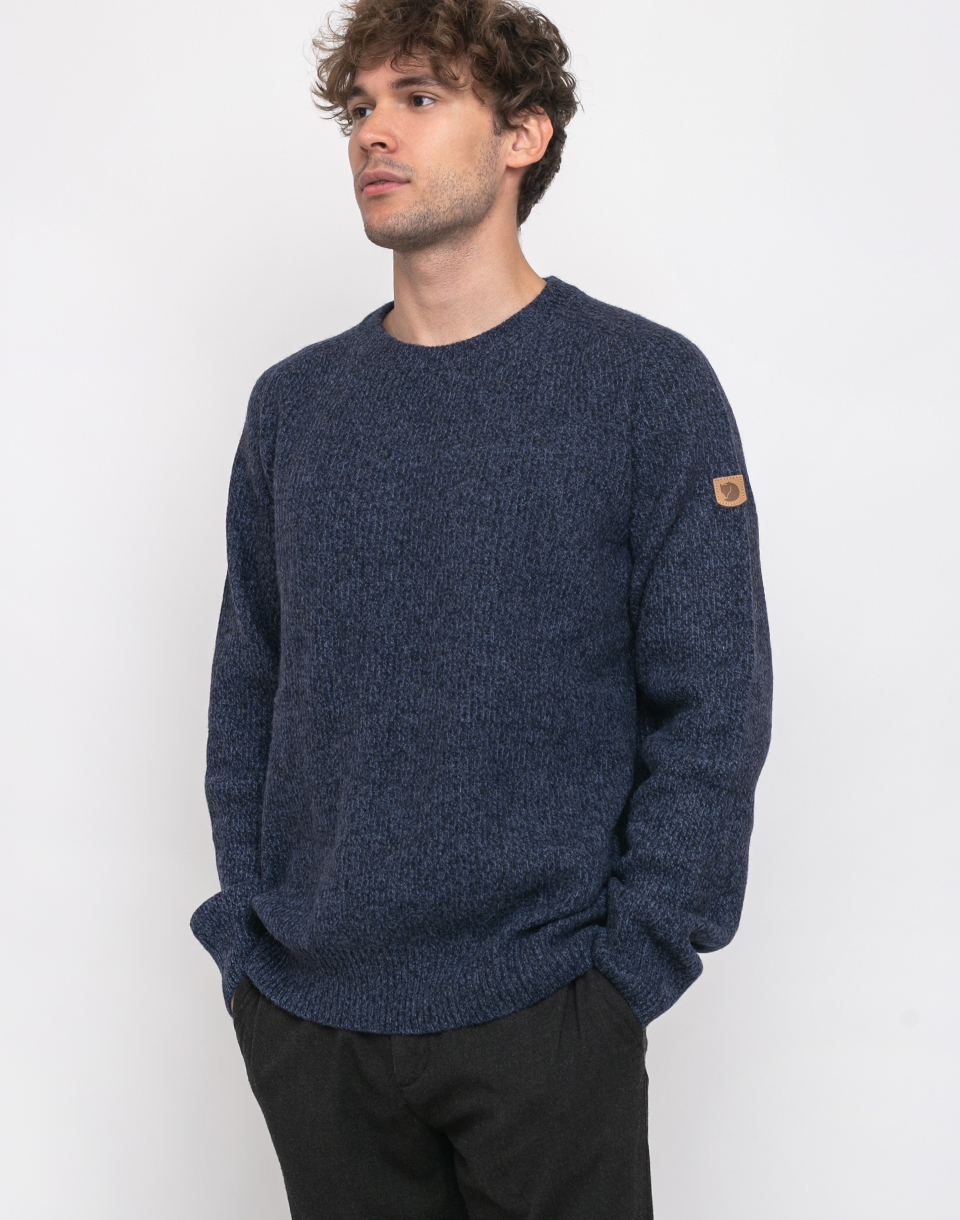 Fjällräven Greenland Re-Wool Crew-Neck 555 Dark Navy XL