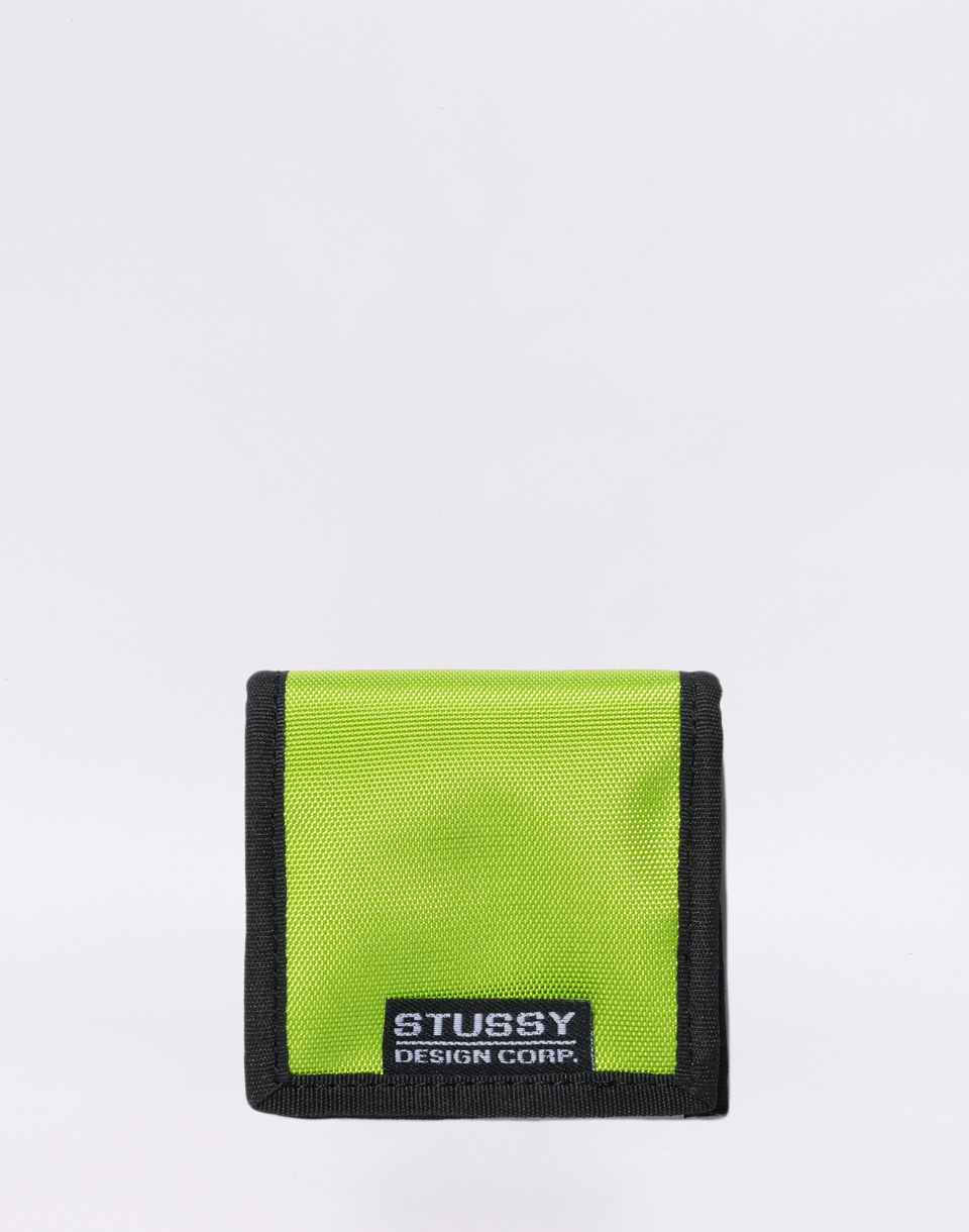 Stüssy Box Coin Pouch lime