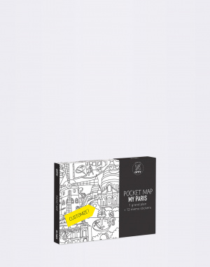 OMY - Coloring Pocket Map - My Paris