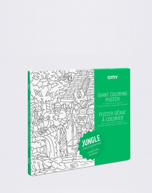 OMY - Giant Coloring Poster - Jungle