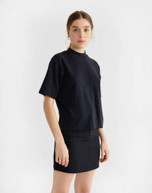 Tričko Thinking MU Black Hemp Aidin T-shirt