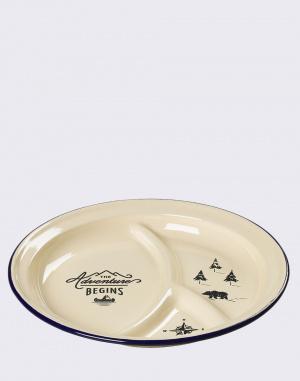 W & W - Enamel Divided Plate