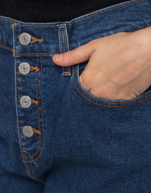 Levi's® - Exposed Button Mom Jean