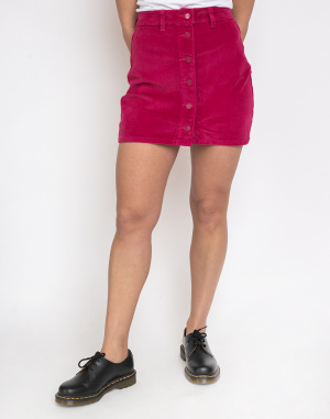 Lazy Oaf - Pink Button-Through Cord Skirt