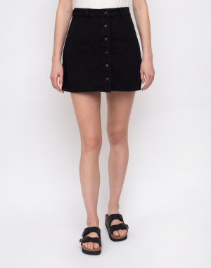 Lazy Oaf - Black Button-Through Skirt