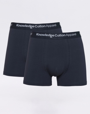 Knowledge Cotton - 2 Pack Solid Colored Underwear With Navy Elastic