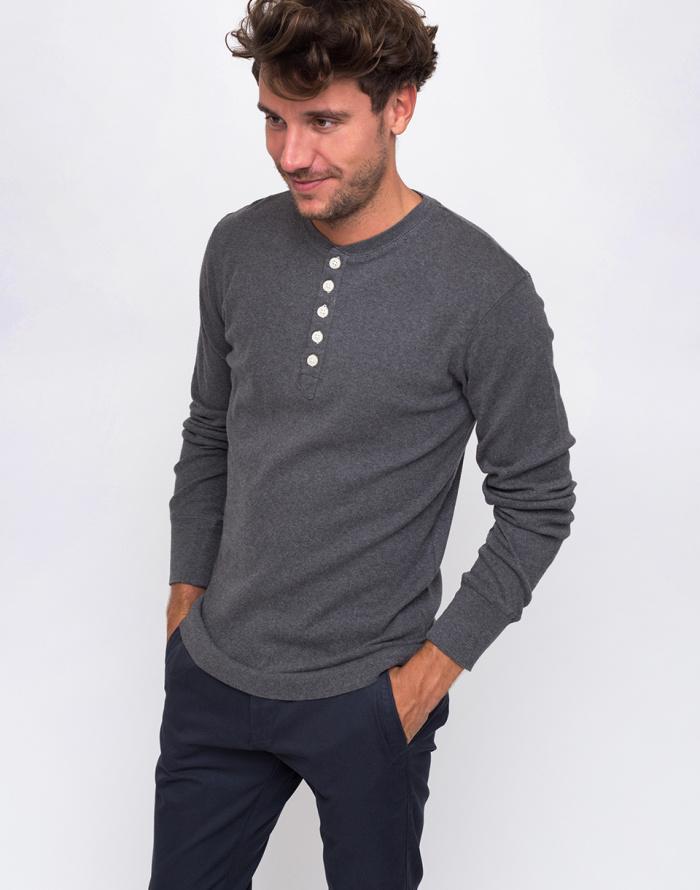 Tričko - Knowledge Cotton - Rib Henley