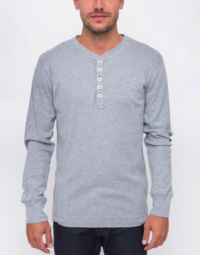 Tričko - Knowledge Cotton - Rib Henley