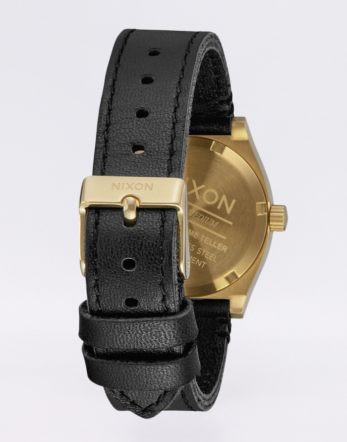 Hodinky Nixon Medium Time Teller Leather