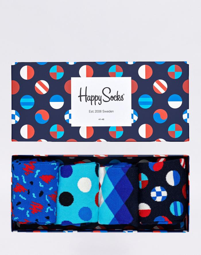 Ponožky - Happy Socks - Navy Gift Box