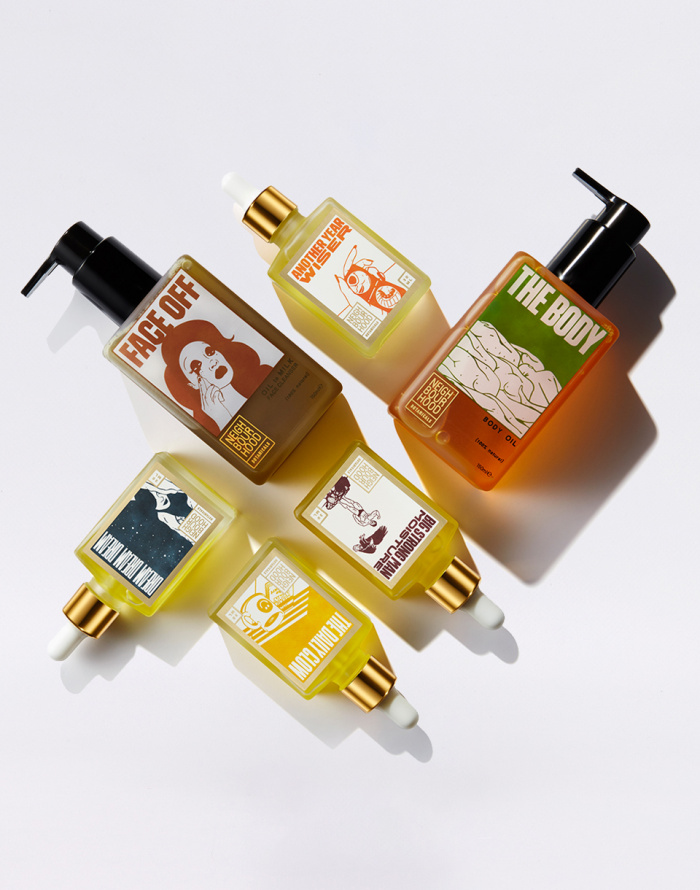 Kozmetika Neighbourhood Botanicals Face Off Oil to Milk Facial Cleanser